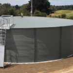 Curlewis Golf Club water tank